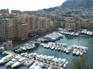 A harbor in Monaco