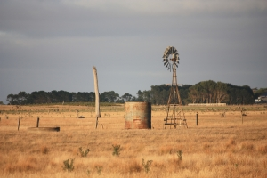 An Australian farm in the countryside