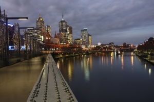 City lights of Melbourne